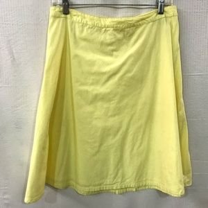 H&M Yellow A Line Skirt  Size: 8